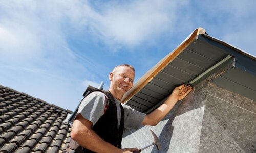 Kitchener Affordable Roofing employee